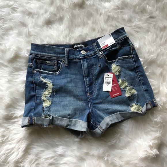 Express Pants - NWT Express Jean Shorts High Rise Shortie